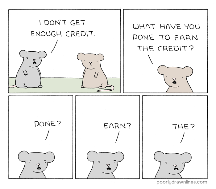 Poorly Drawn Lines – Credit