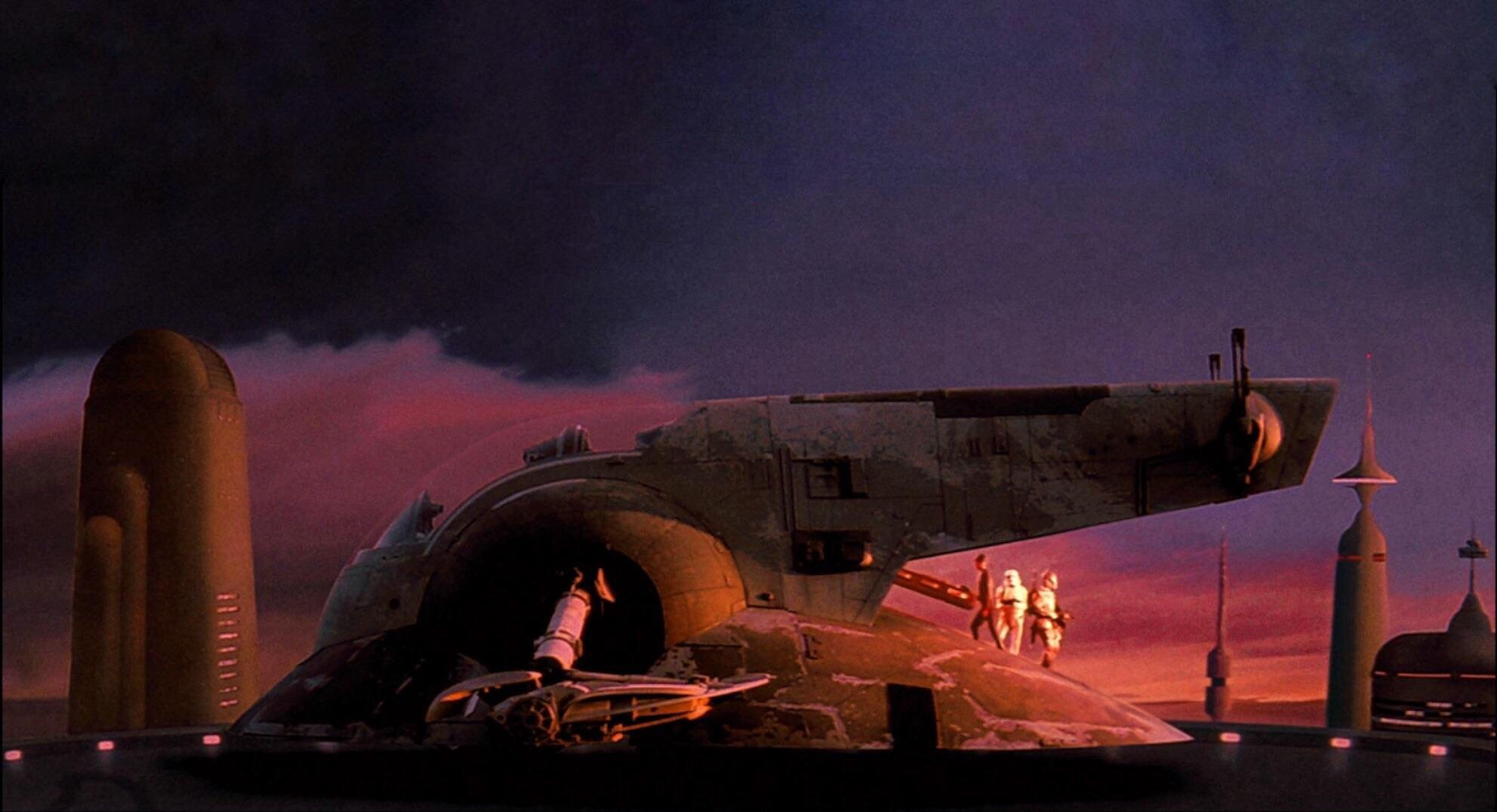 "matte art from the 1980 print of ""the empire strikes back"""
