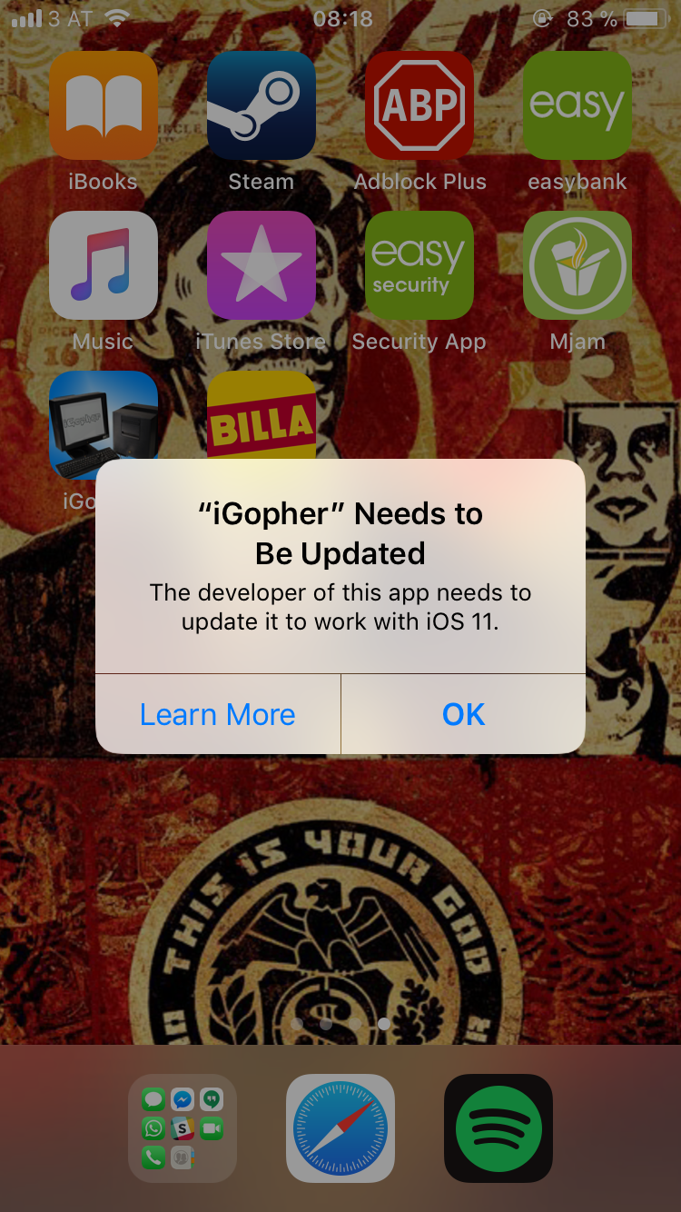 Trying not to take this as a sign that I need to write an iOS gopher client