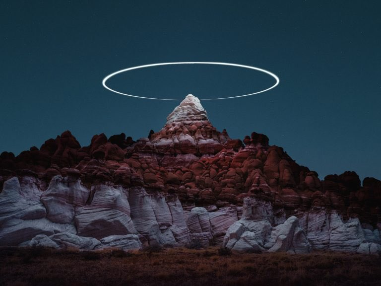 Drones create mountain halos