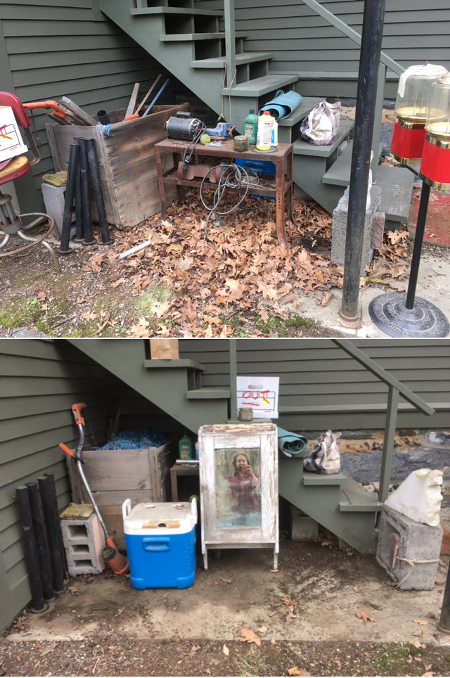 Spring cleaning: under-the-stairs shamehole