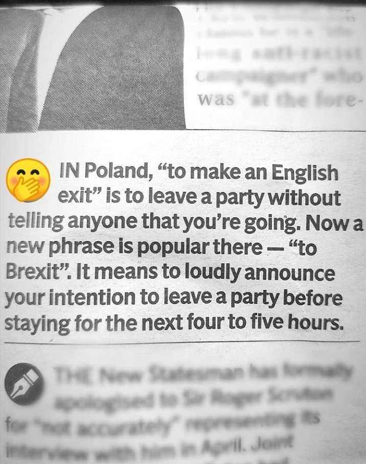 English, or Brexit?
