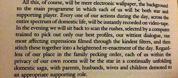 J.G. Ballard Predicts Social Media
