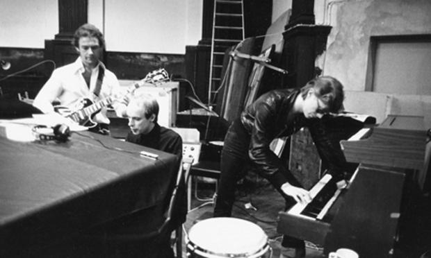 Fripp, Eno and Bowie at Hansa studios in Berlin