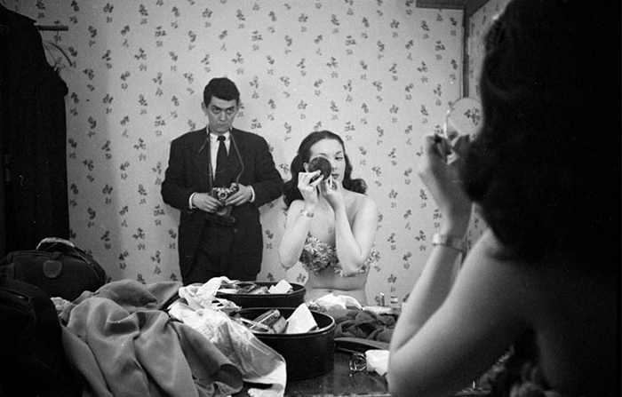 Self-Portrait with Showgirl Rosemary Williams (Stanley Kubrick, 1948)