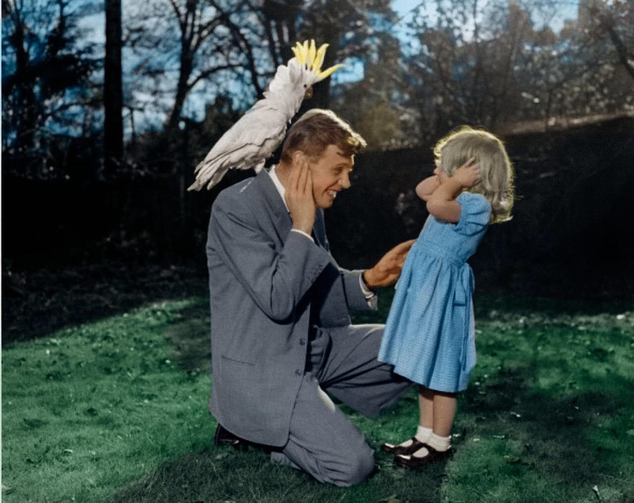 David Attenborough & daughter, 1959