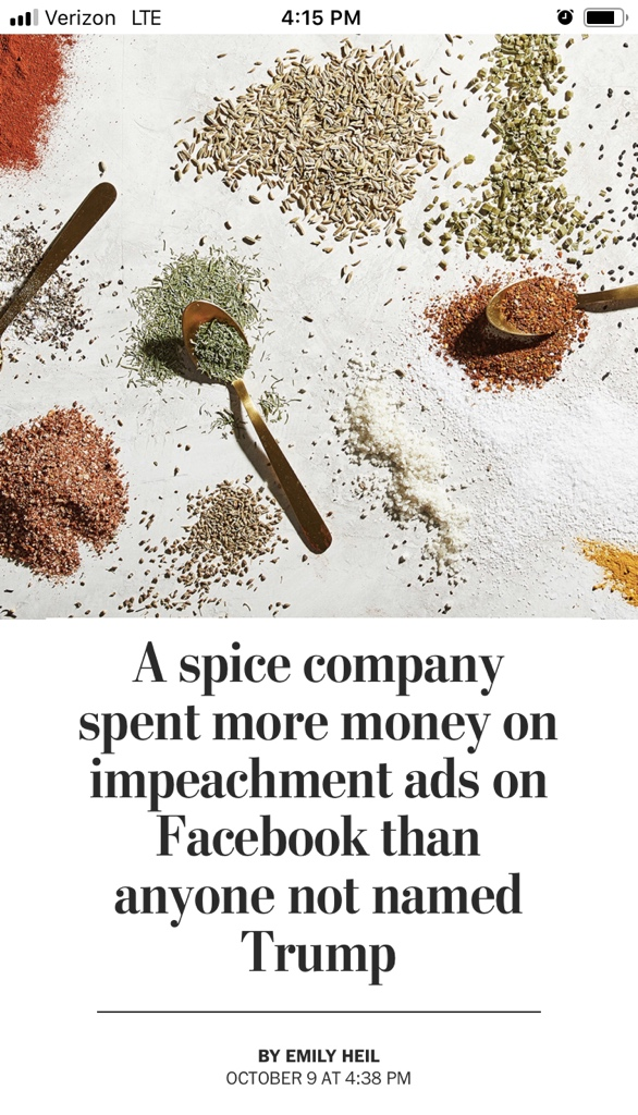 BRB, i'ma go buy a shitload of spices at Penzey's