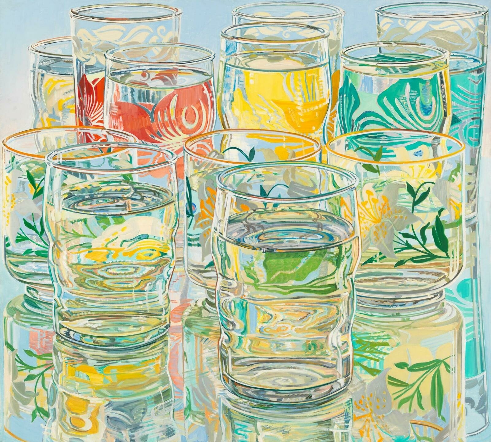 Janet Fish, Painted Water Glasses, 1974
