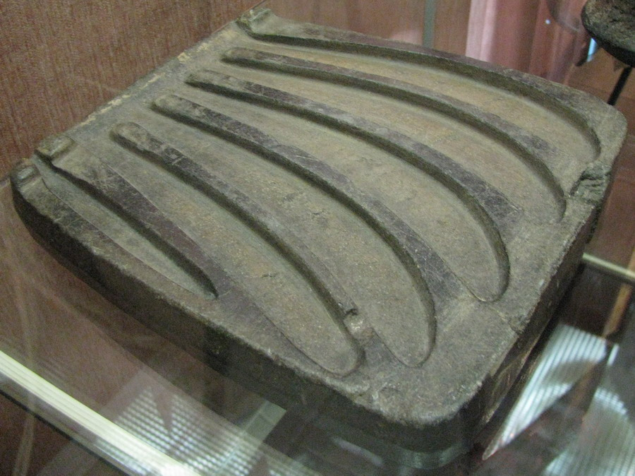 bronze age casting mold for sickles