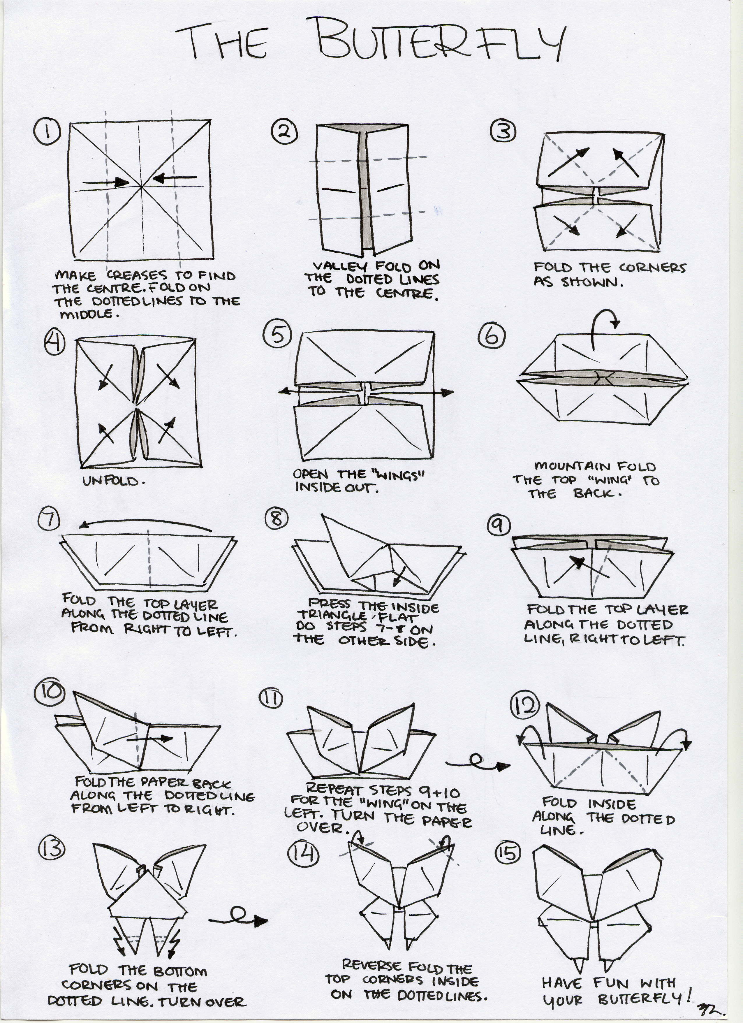 Easy Origami Butterfly Bookmark Corner - How to make an Origami ...   3510x2550
