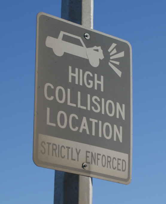 High Collision Location - STRICTLY ENFORCED